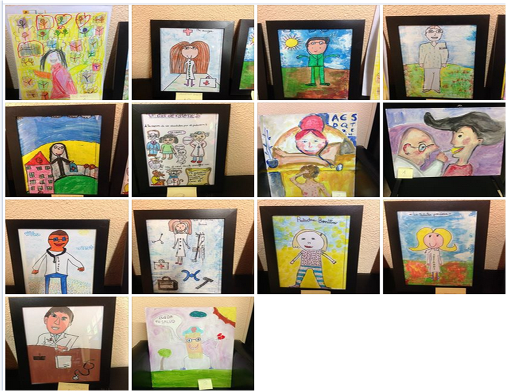 Dibujos y pinturas del concurso
