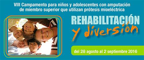 Campamento de rehabilitación para niños y adolescentes con amputación de miembro