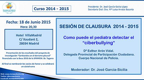 SESIÓN DE CLAUSURA CURSO 2014-2015