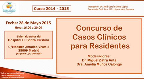 Concurso de Casos Clínicos para Residentes. Salón de Actos del Hospital U. Santa