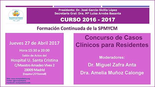 Concurso de Casos Clínicos para Residentes. Curso 2016-2017