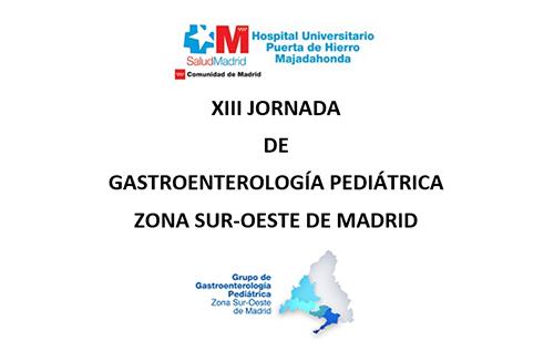 XIII jornada de Gastroenterología Pediátrica zona sur-oeste de Madrid