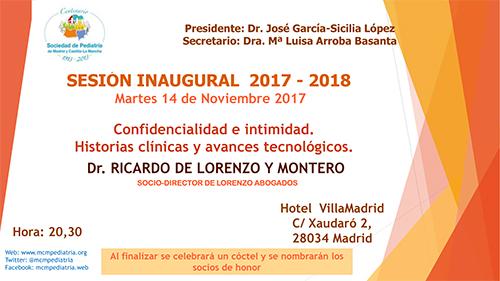 SESIÓN INAUGURAL curso 2016 - 2017